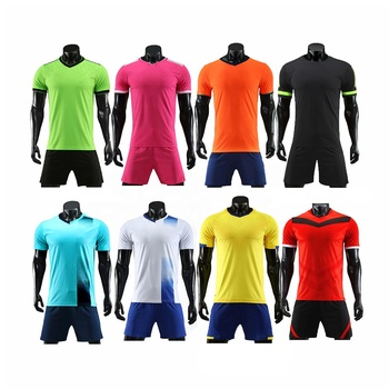 Top quality football set wholesale cheap custom kids adult blank soccer jersey