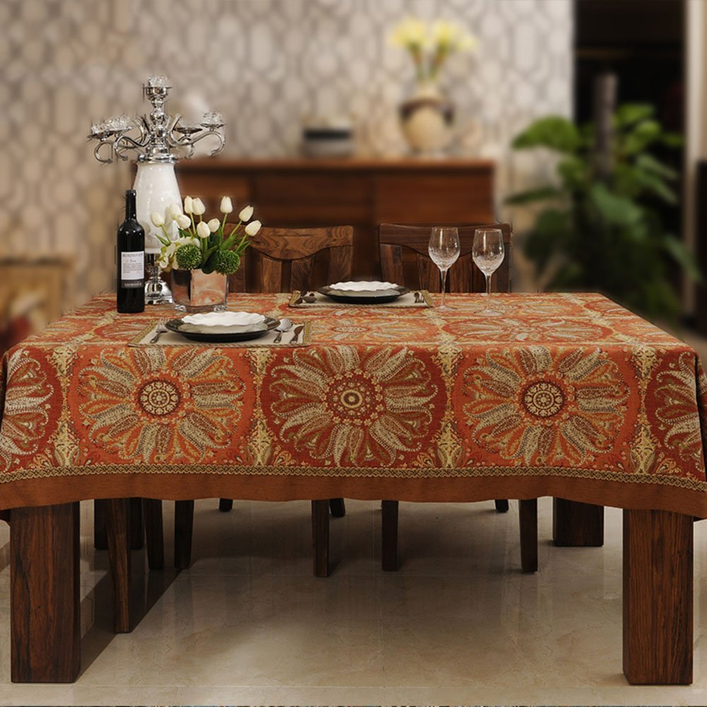 Luxury linen Tablecloths, [modern] [retro] [nation] Fluid systems [chinese style] European style French [restaurant] Kitchen 1 panels Tablecloths-A 160x210cm(63x83inch)