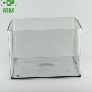 Supermarket bulk food parcel clear display container
