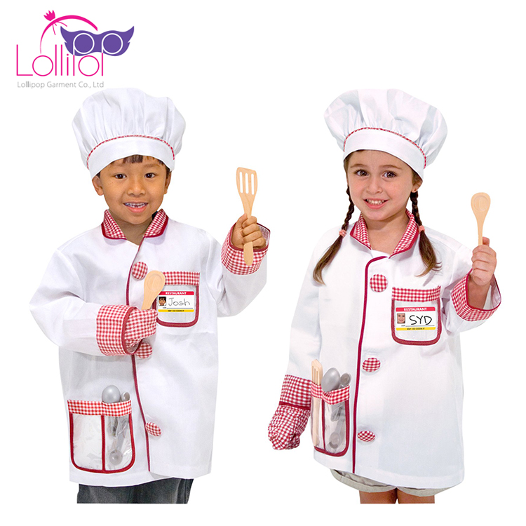 Halloween carnival role play children chef outfit simple hot cosplay costumes for kids