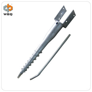CE Certificate List U91 hot galvanized ground screw /ground anchor for solar power system