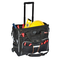 Line Top Roller N Rolling Trolley Tool Bag For Plumbers, Wholesale Durable Tool Bag With Wheels