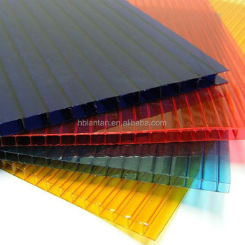 Wholesale multilayer all colors Hollow polycarbonate PC sheet price