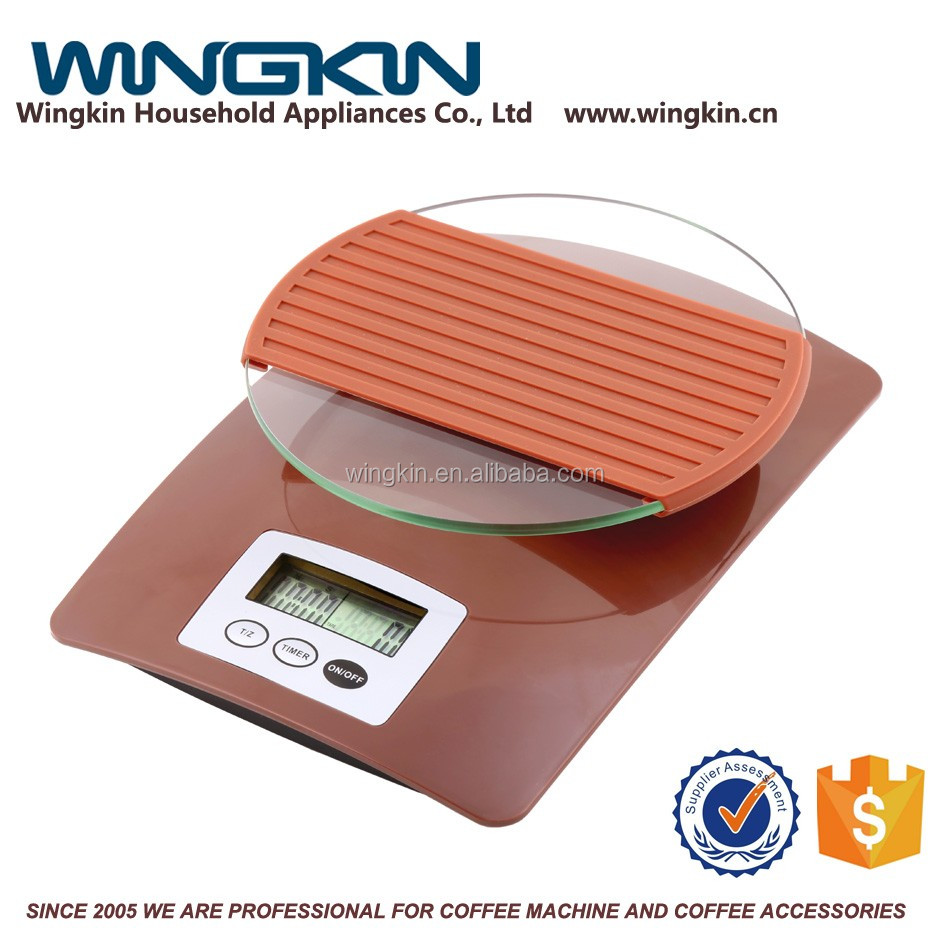 Reasonable Price stainless steel 3kg digital coffee scale with timer