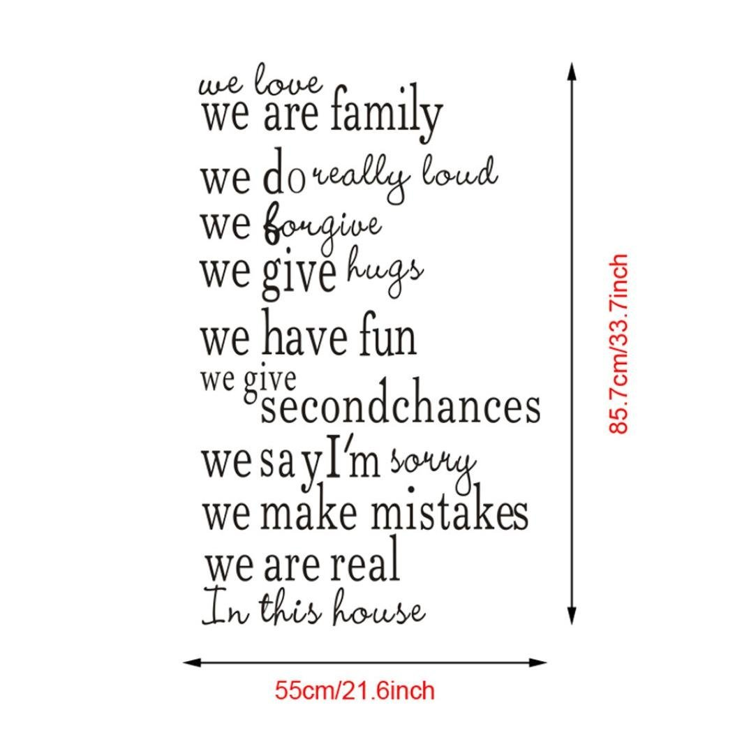 Rumas We Are Family In This House Mural Removable Wall Sticker Art Decal Stair Decor