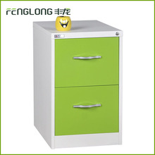 cheap industrial colorful cabinet design office metal storage 2 hanging drawer filing cabinet