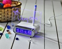 Memo Board White LED Oval Digital Clock