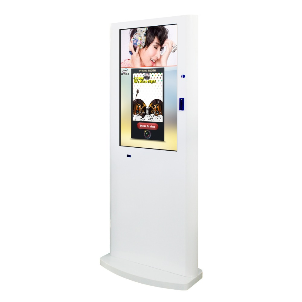2016 customized 42inch new portable photo booth kiosk
