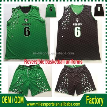 12dd9687f66 OEM custom latest usa sublimation reversible basketball uniforms ,cheap  shooting shirts