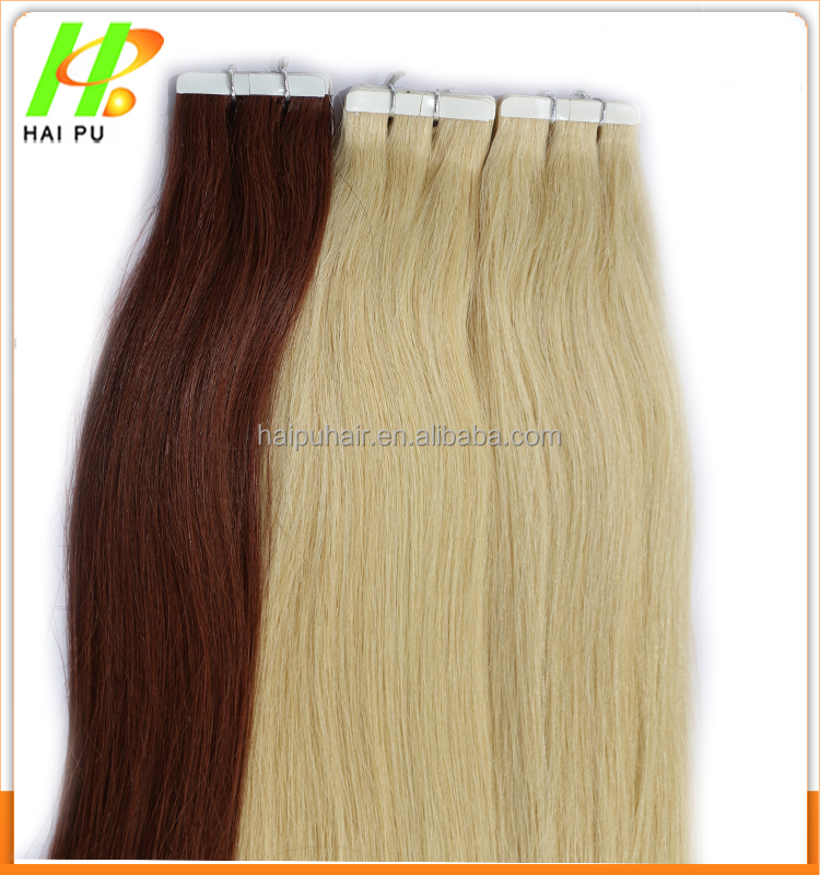 High quality 100% virgin brazilian silky straight remy human tape hair extension