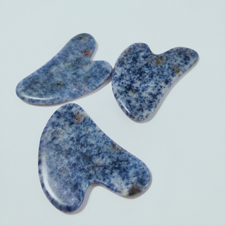 Best Seller blue spot jade guasha board heart shaped rose quartz Scrapping