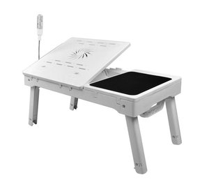 NBT69B Adjustable angles folding laptop tables with USB hub mouse pad and cooling fan