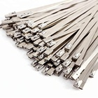 "19.6"" Stainless Steel Header Wrap Straps Self Locking Cable Zip Ties"