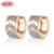 18K Gold Plated Jewellery Ladies Earrings Designs Pictures For Party Girl