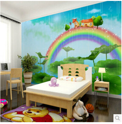 Mural Children S Bedroom 3d Wallpaper Mural Male Girl