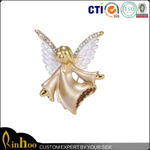 High quality safety pin for brooch fashion antique angel wing brooches for women ornament