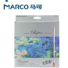 Marco Drawing Pencils  72 48 36 24pcs Colored Pencil lapis de cor School Supplies well packaged Painting Pencil