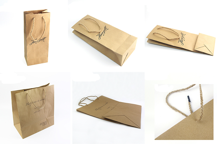 Custom printed white shopping paper bag, small fancy gift paper bag for clothing