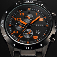 Factory price curren quartz all stainless steel watch For Promotion