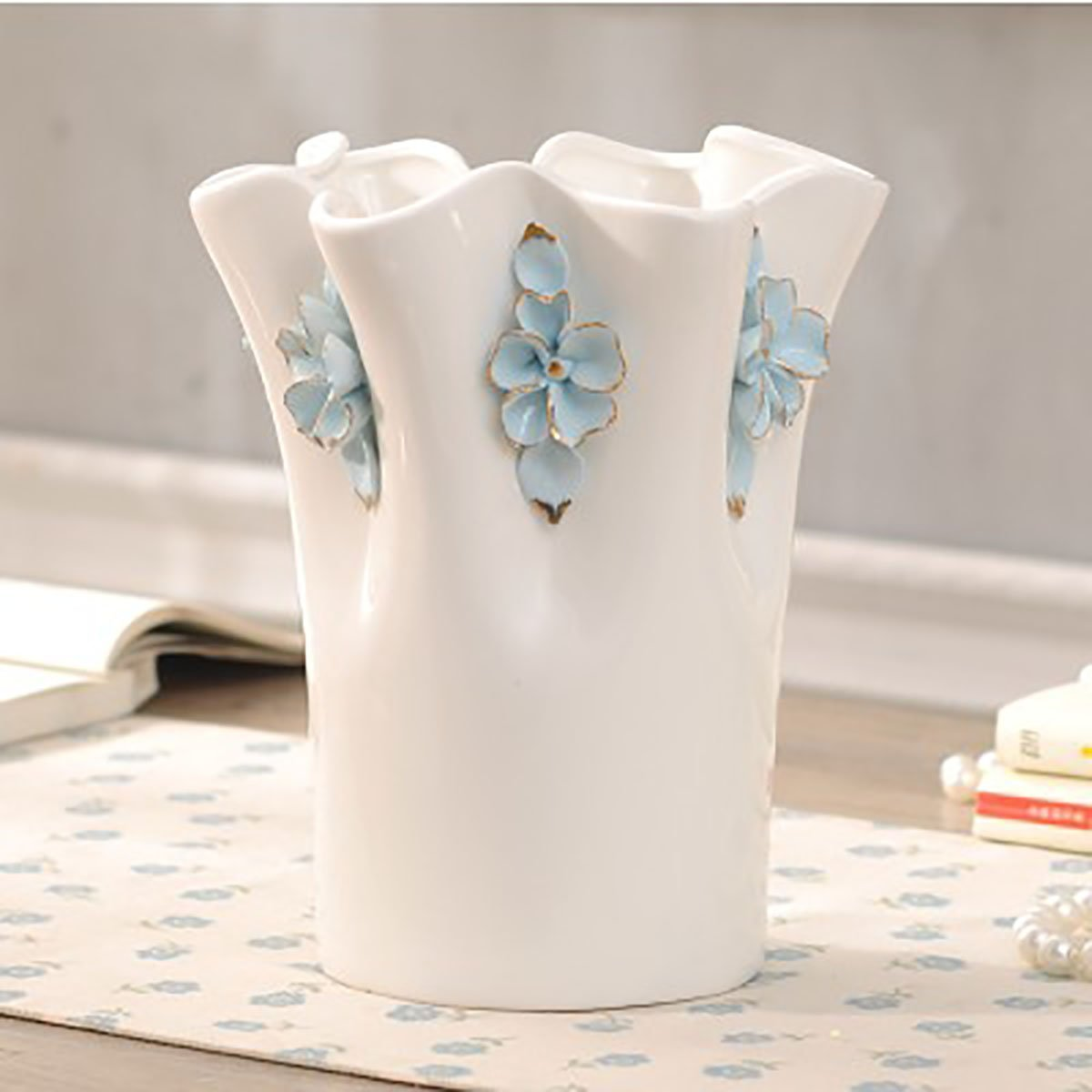 Buy Handmade And Hand Pinched Floral Decorative Chinese Porcelain