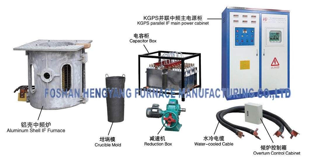 Electric Type Crucible Aluminum Gold Melting Furnace Induction Price