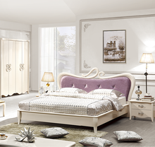 Wedding bedroom furniture Simple Eurppean White Room furniture E1 MDF