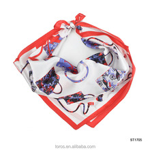 TOROS Print Fashionable Womens Accessory 50*50 Square Silk Scarf