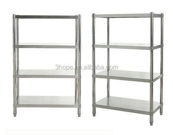 Restaurant Kitchen Shelving restaurant kitchen stainless steel shelves/4 tiers adjustable