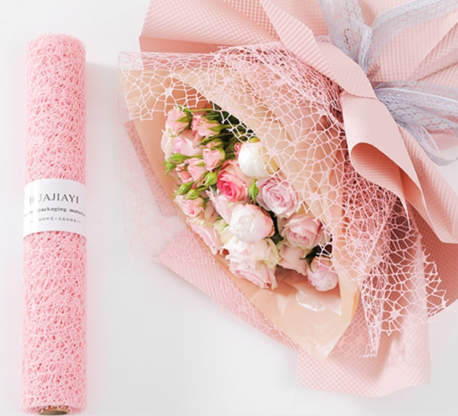 flower wrapping mesh big spider net mesh Floral Wrapping Paper Flower Bouquet Packing Material Supplies packaging
