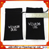 Black Plush Bag With Metal Tips Custom Velvet Drawstring Pouch Bag