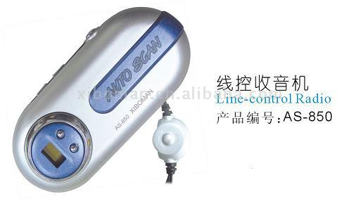 mini line control radio with light