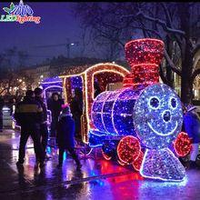 Weihnachtsbeleuchtung Außen Zug.Aktion Weihnachten Zug Führte Einkauf Weihnachten Zug Führte