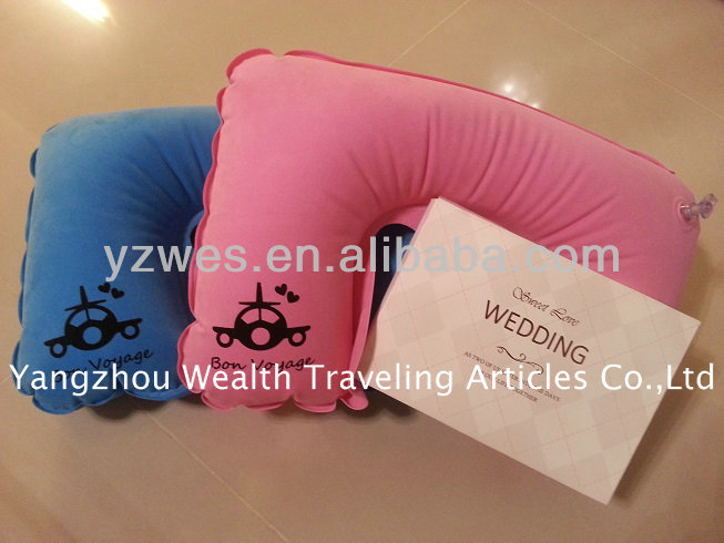 travel inflatable PVC neck pillow with bag of pillow neck