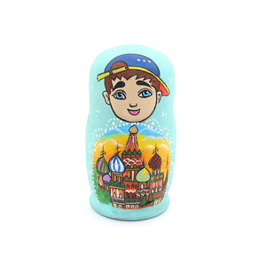 5PC matryoshka doll nesting dolls toy boy cartoon doll