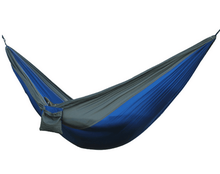Outdoor Camping Hammock with Polyester Tree Straps, Carabiners, Double Size- 100% Rip Stop Parachute Nylon Hammock