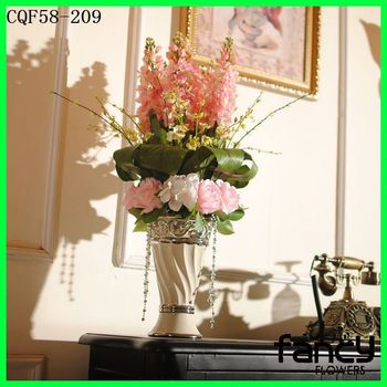 New Product Modern Style Artificial Flower Arrangements Tall Vase