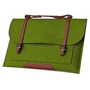 "SODIAL(R)Wool Felt Notebook Laptop Bag For MacBook Air Pro 15 ""green"