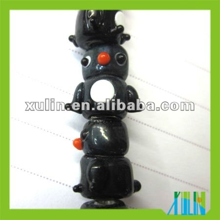 lovely black teapot shaped lampwork glass beads