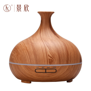 Wood Grain Electronic Essential Oil Diffuse With 7 Color Led