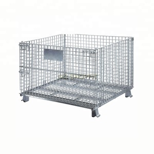supermarket wire promotion table storage cage rolling cage dump bin with divider