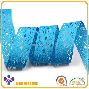 Popular Hole Cut Out 1.5 Inch Blue Grosgrain Ribbon Wholesale