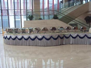 Star hotel buffet table use satin table skirting for wedding events star hotel buffet table use satin table skirting for wedding events watchthetrailerfo