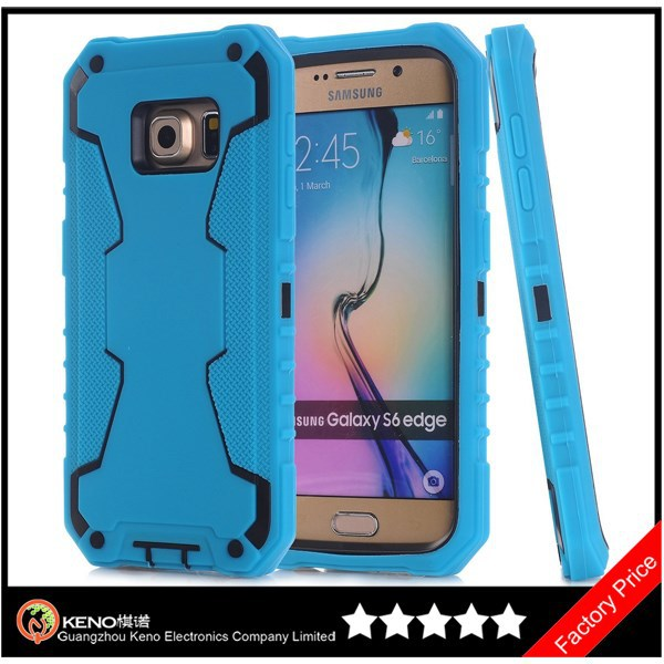 Keno Cell Phone Accessory Wholesale Los Angeles, Robot Series 3 in 1 Combo Hybrid Defender High Impact Body Case for S6 Edge