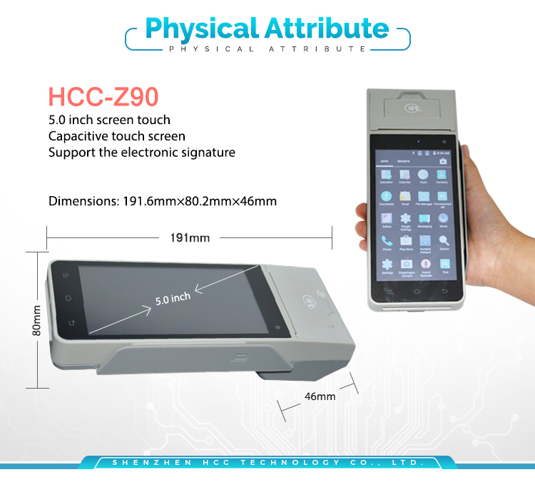Hot! EFT Android Handheld Mobile Payment Smart Card Reader POS terminal HCC-Z90