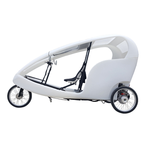 PE Cabin Pedal Assist 3 Wheel 2 Passengers Rental Use Velo Taxi, City Popular Taxi Bike 3 Wheel Electric Bicycle Rickshaw