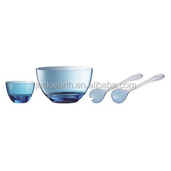 Salad Bowl Plastic Salad Set with Server