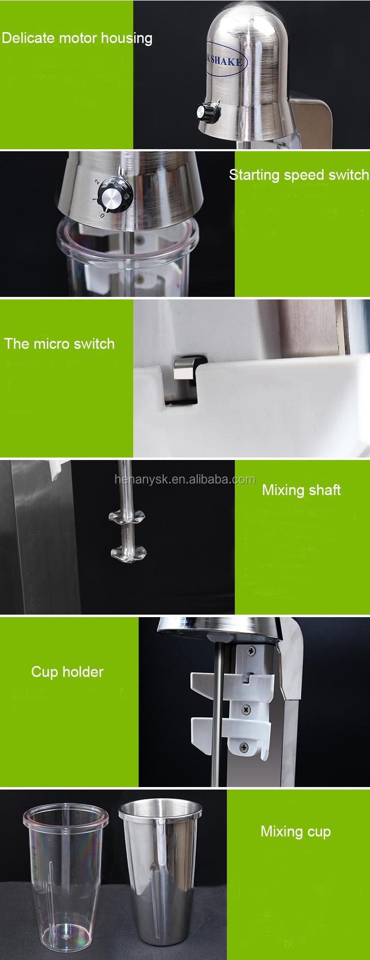 1 Head Commercial Stainless Steel Milkshake Mixer Snow Storm Milk Shake Machine Cyclone Machine Soft Ice Cream Mixer