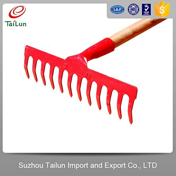 High Strength Plastic coated Twelve Tines Garden heavy duty Rake