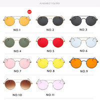 2019 New Arrived Fashion Retro Classic Punk Metal Oval Shape Ladies Womens Sunglasses