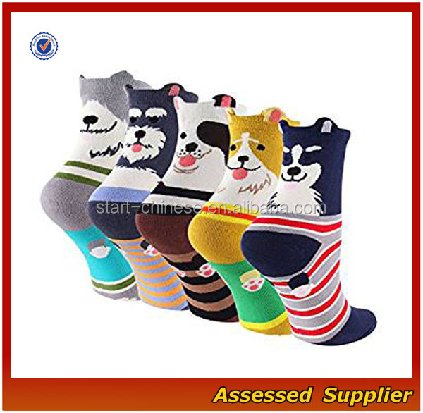 Socks Manufacturer Cartoon Dog Animal Cute Socks,Custom Happy Novelty Socks, Socks Girls ---AMY15216